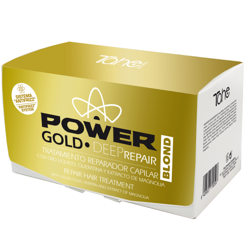 Anti-frizz GOLD POWER DEEP REPAIR pro blond vlasy (ampule 6x10 ml) TAHE